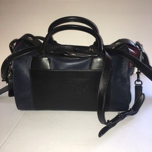 Coach Rare Box Bag - deep navy/black